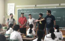 ヨルダン選手団と松陽高校生徒交流