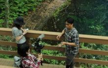 動画ブロガー撮影中@十二湖